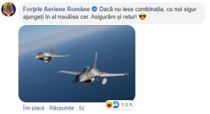 8. FORTELE AERIENE ROMANE social media marketing