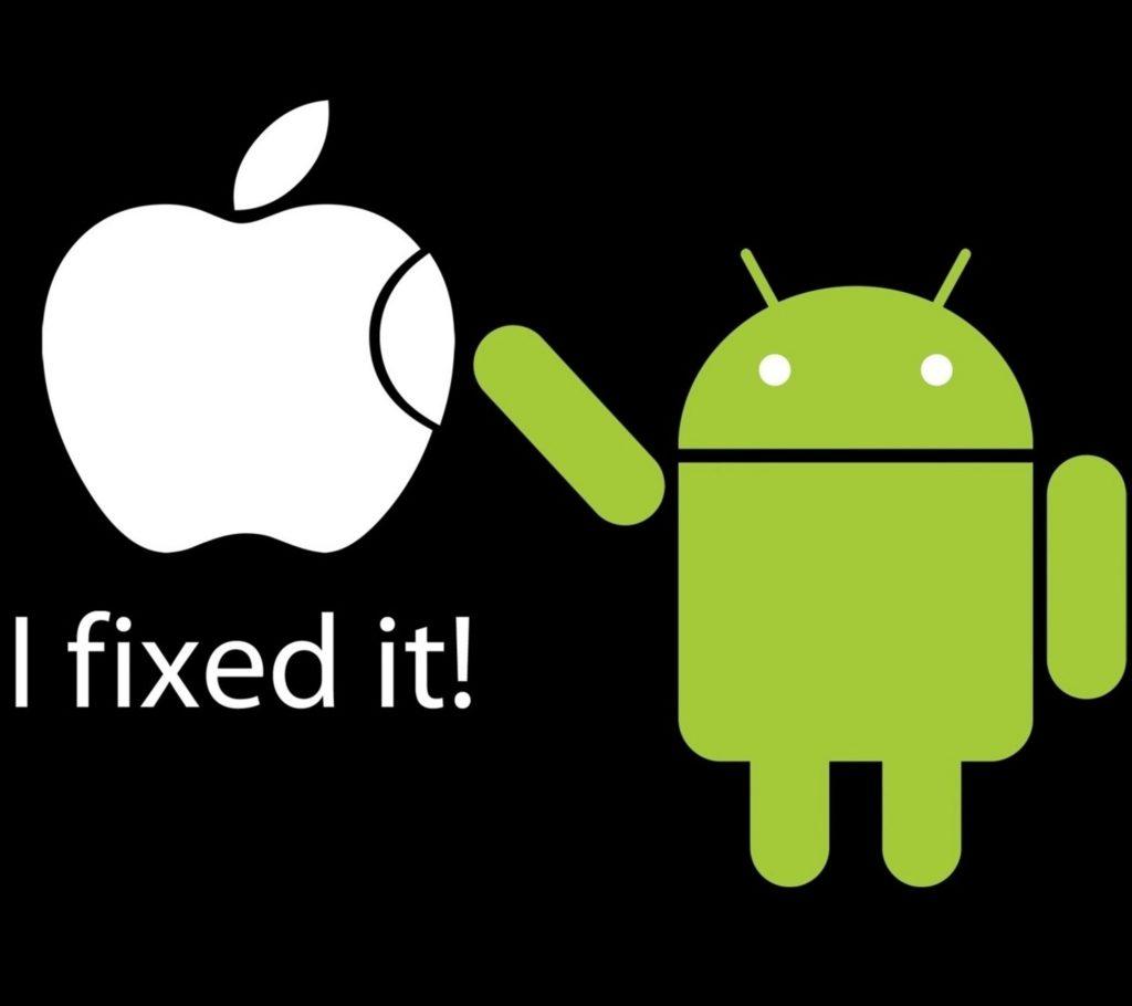 Android repara Apple